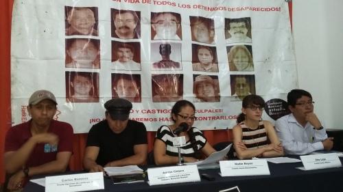 Conf Campaña Nal contra la Desaparicion Forzada. Foto Rosa Rojas